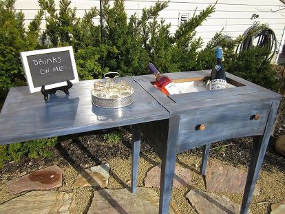 Sewing Machine Cabinet Turned Into A Mini Bar Or Drink Cart Hometalk Adorable Sewing Machine Bar Cart