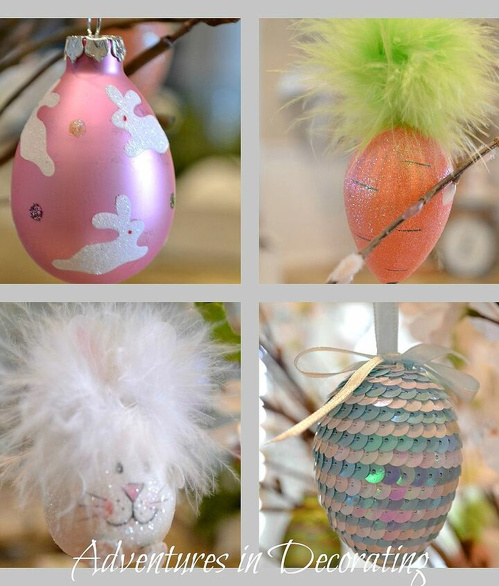 our little easter tree, easter decorations, seasonal holiday d cor