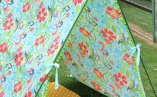 simple diy tent, crafts, outdoor living