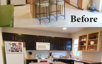 Gel Stained Kitchen Cabinets