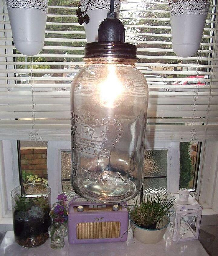 uk customized Diy tutorial: Crown jar swag light