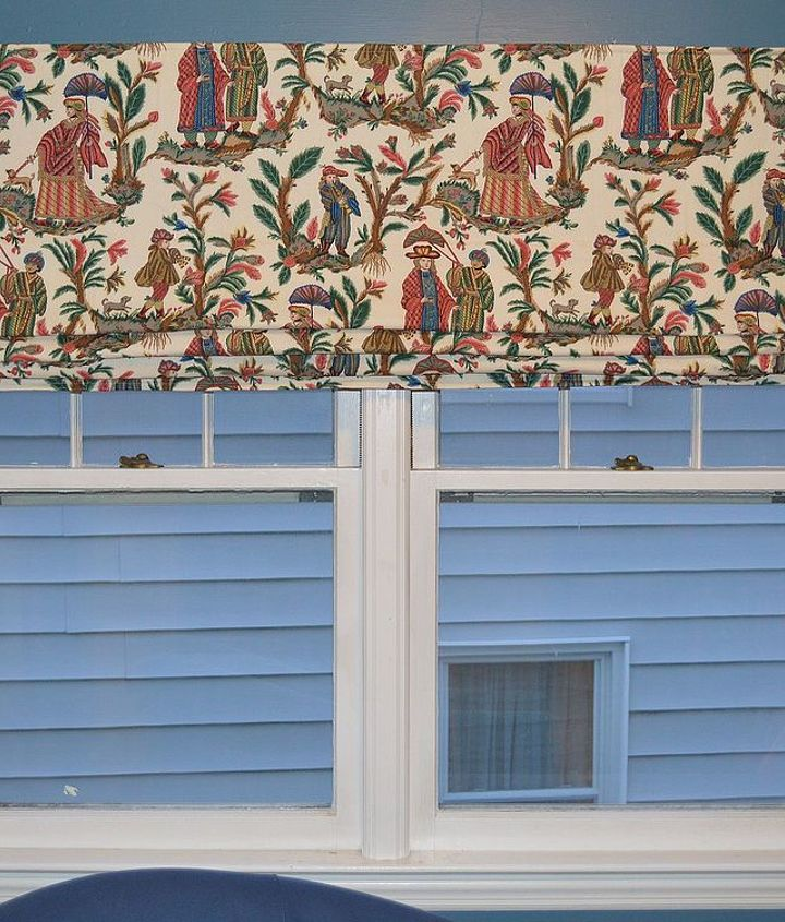 diy extra wide roman shade, home decor, reupholster, window treatments