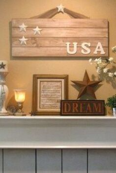 4th of july decorating without red white blue, patriotic decor ideas, seasonal holiday d cor, My non traditional 4th of July mantel