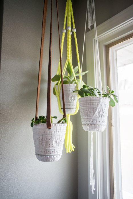 diy leather plant hanger, crafts, gardening, home decor, repurposing upcycling, DIY Leather Plant Hanger