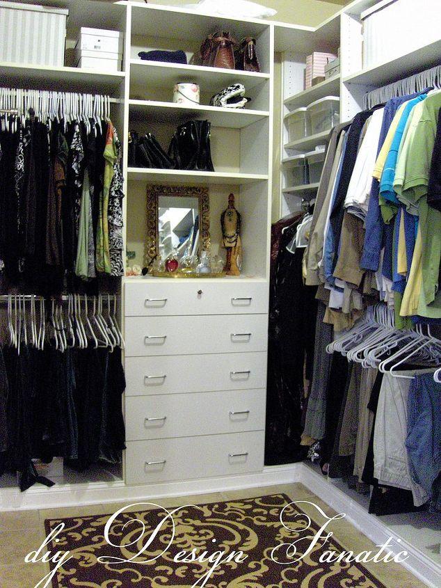 organized master bedroom closet, closet, organizing, shelving ideas, The view as you step into our closet