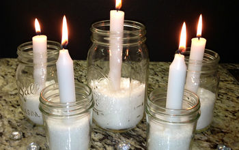 Simple DIY Mason Jar Candle Holders
