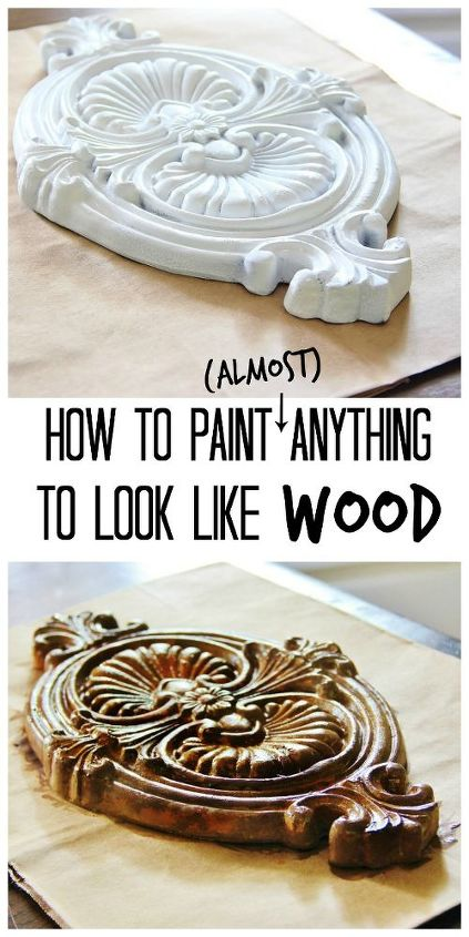 how to paint anything to look like wood, painting, woodworking projects