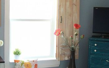 window molding and rustic indoor shutters, windows, woodworking projects, Window molding and rustic shutter
