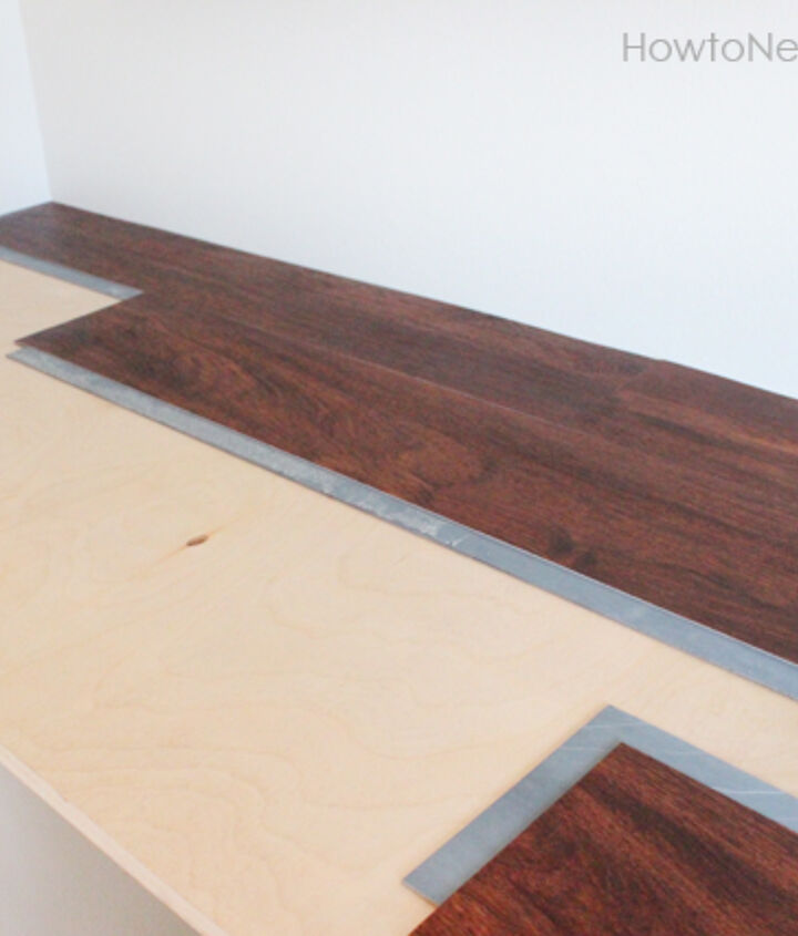Laminate flooring for the desktop