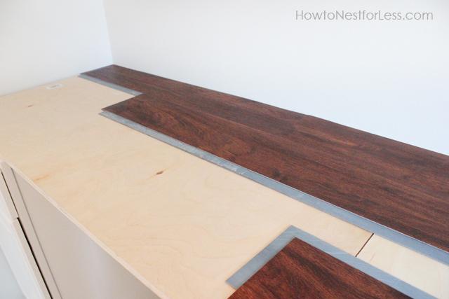 Laminate flooring for the desktop