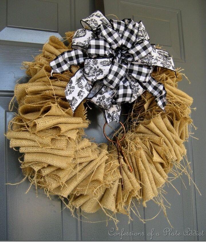Got a coat hanger and 2 yards of burlap? You've got a wreath!