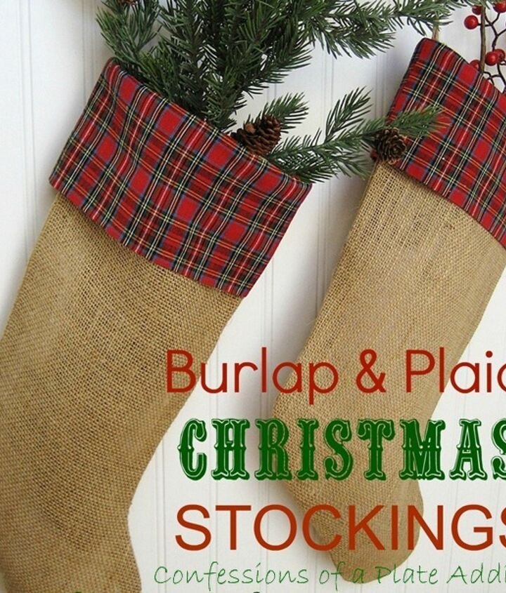 Love the warm homespun look of theses stockings!