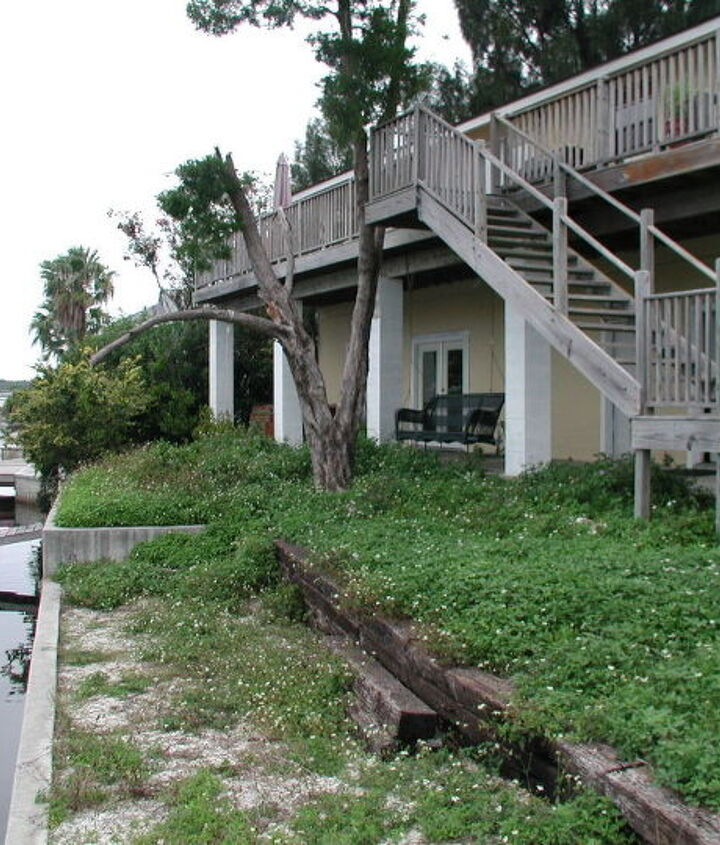 The rear of the house - we saw potential. And a canal that lead directly to the Gulf.