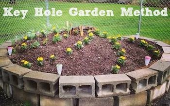 keyhole garden bed method a compost and garden bed in one, composting, gardening, go green, raised garden beds