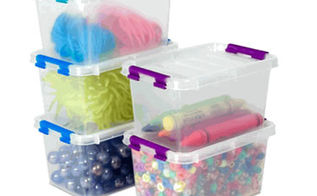19 things every crafter should have, crafts, Love love clear plastic bins for storing my supplies I don t have to go digging to find what I m looking for