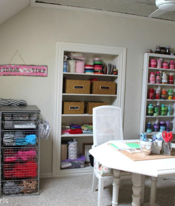 organized craft room, craft rooms, organizing
