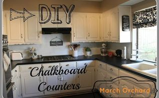 chalkboard countertops, chalkboard paint, countertops, diy, how to, kitchen design