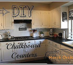 Chalkboard Countertops, Chalkboard Paint, Countertops, Diy, How To, Kitchen  Design
