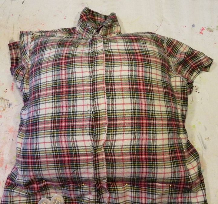 Slip your existing throw pillows into the body of a thrift store shirt, and pin the material to the right size.  Remove the pillow and sew it up.  http://www.madincrafts.com/2013/11/plaid-thrift-store-shirts-to-cozy-throw.html