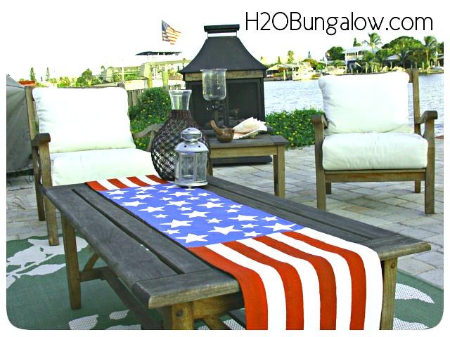 diy patriotic table runner, crafts, mason jars, patriotic decor ideas, seasonal holiday decor