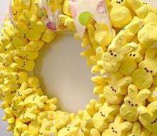 it s time to party with my peeps wreath, crafts, wreaths, Make your own Peep Wreath Simple with a few things wreath form toothpicks and peeps