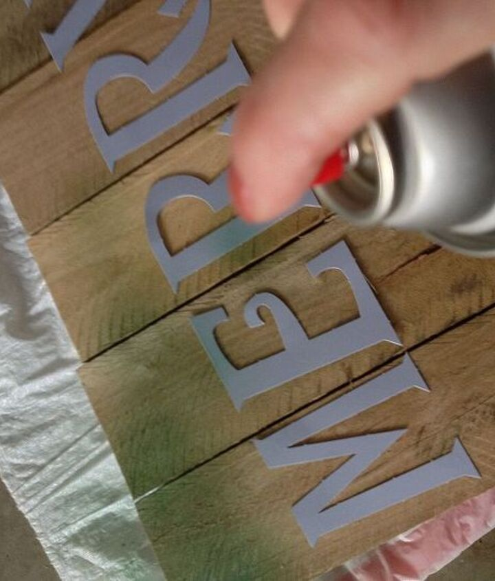 Lay down letters and spray paint away.