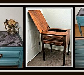 Iconic Up Cycle Audrey Hepburn End Table, Painted Furniture, Repurposing  Upcycling