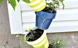 topsy turvy herb garden tutorial, chalkboard paint, crafts, gardening, I am very excited to have fresh herbs this summer and cannot wait to start cooking with them BTW I will not be eating the cat nip That will be strictly for the cat