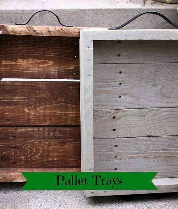 Here are the two trays one in pecan stain and the other in sun bleached stain.