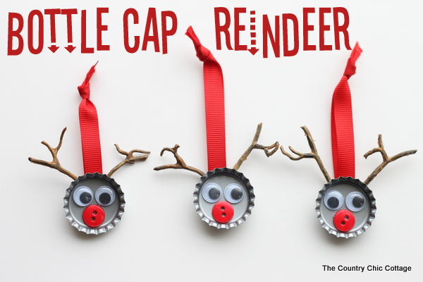 My bottle cap reindeer can probably be made with items you have at home.  http://www.thecountrychiccottage.net/2012/12/bottle-cap-reindeer-kids-craft.html?m=1