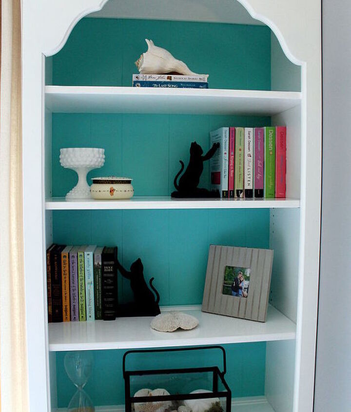 craigslist bookcase makeover, painted furniture