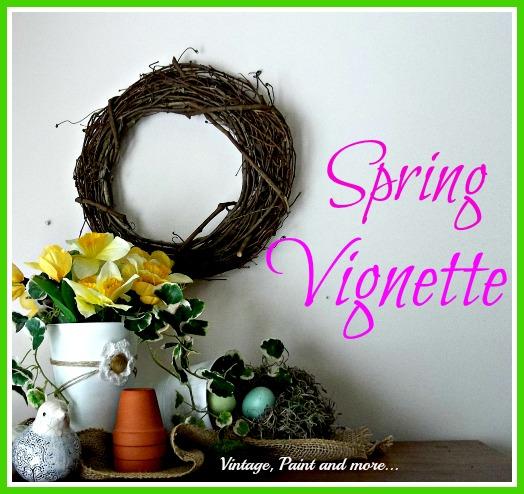 spring vignette, seasonal holiday d cor
