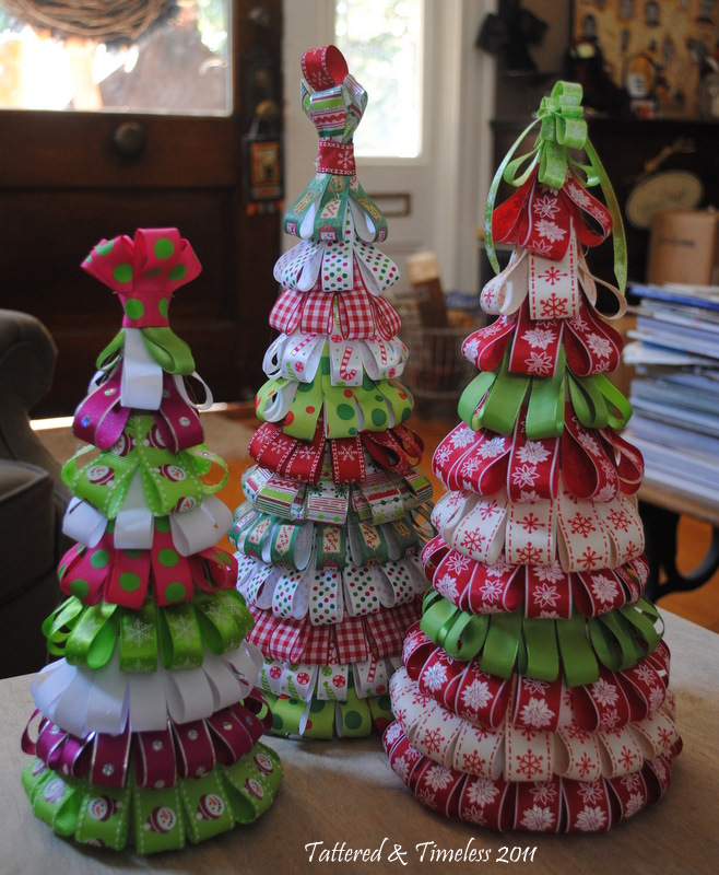 ribbon trees a tutorial, crafts