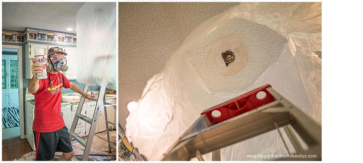 drywall popcorn ceiling repair in a few easy steps, diy renovations projects, home maintenance repairs, walls ceilings