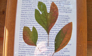 sassafras leaves framed for home decor, crafts, decoupage, gardening