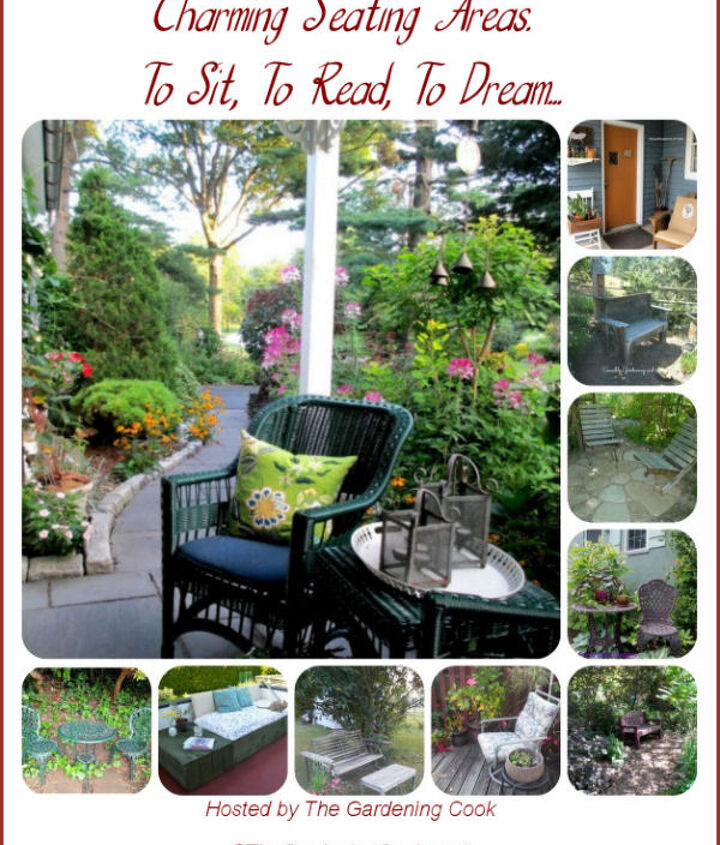 10 Charming Seating Areas - http://thegardeningcook.com/garden-seating-areas/