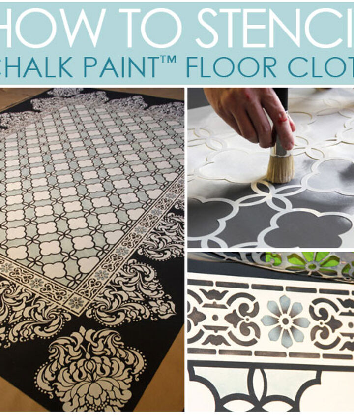 How to Stencil: Chalk Paint® Stenciled Floor Cloth http://www.royaldesignstudio.com/blogs/how-to-stencil/5156302-chalk-paint-stenciled-floor-cloth