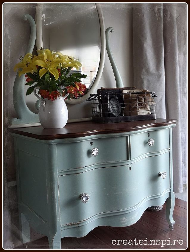 This color is Sweetie Jane from Sweet Pickins milk paint.  Such a pretty color!