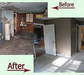 A one car garage turned into functional living space with a bathroom and a laundry room. Ceiling in the garage was\u2026 & A one car garage turned into functional living space with a bathroom ...