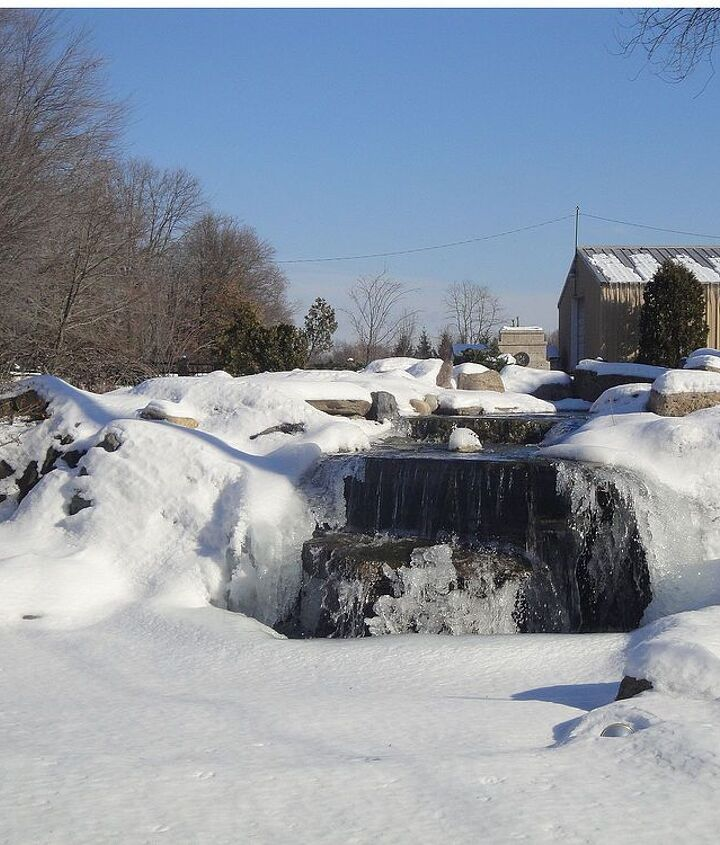 Waterfall Peaking Out of a Snowbank