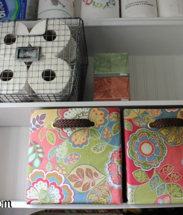 Room for storing all of our extra paper products!
