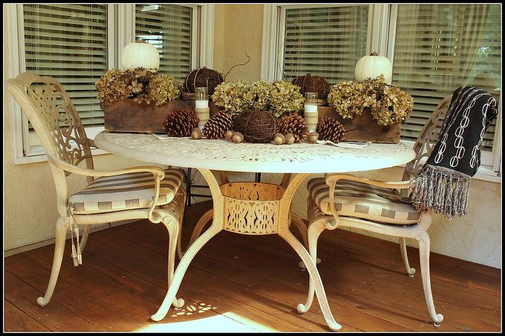 The table holds a vintage French trough.