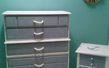 Coastal Chic Dresser/Night Stand Makeover