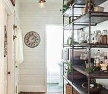 getting organized an awkward unused space becomes an open pantry, closet, kitchen design, storage ideas, after DIY industrial pipe shelving and an open pantry area