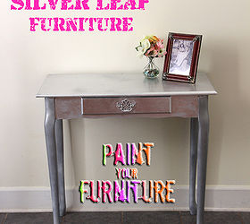 Attractive How To Silver Leaf Furniture, Painted Furniture