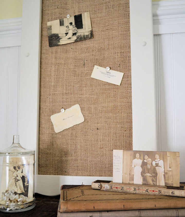 Finished burlap covered cork board