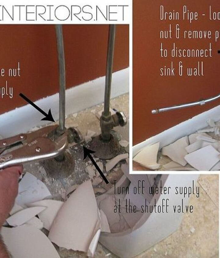 no need to hire a plumber remove a toilet amp sink on your own, bathroom ideas, diy, how to, plumbing