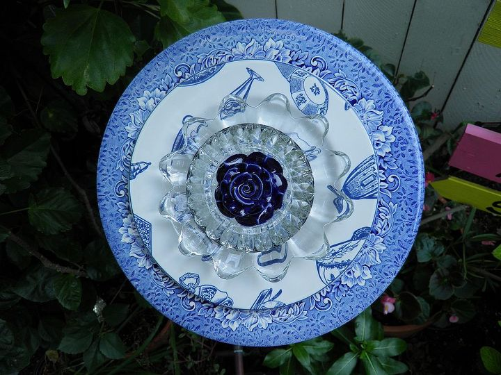 Just finished this pretty blue flower plate...love it!!