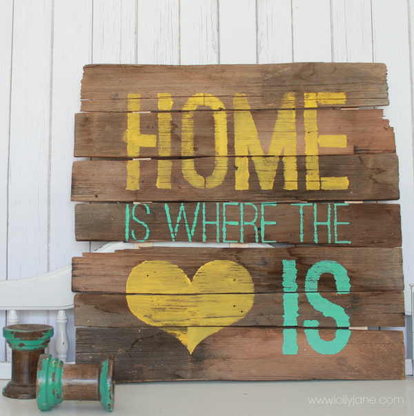 How To Create Stenciled Pallet Art Hometalk