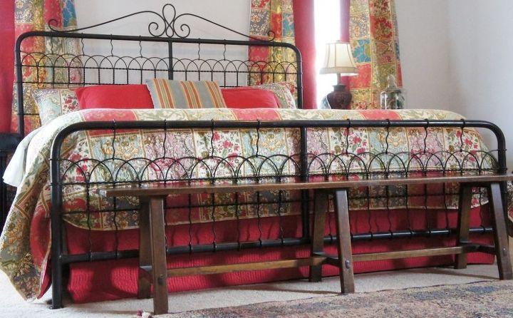 mom s cheery master bedroom, bedroom ideas, crafts, reupholster